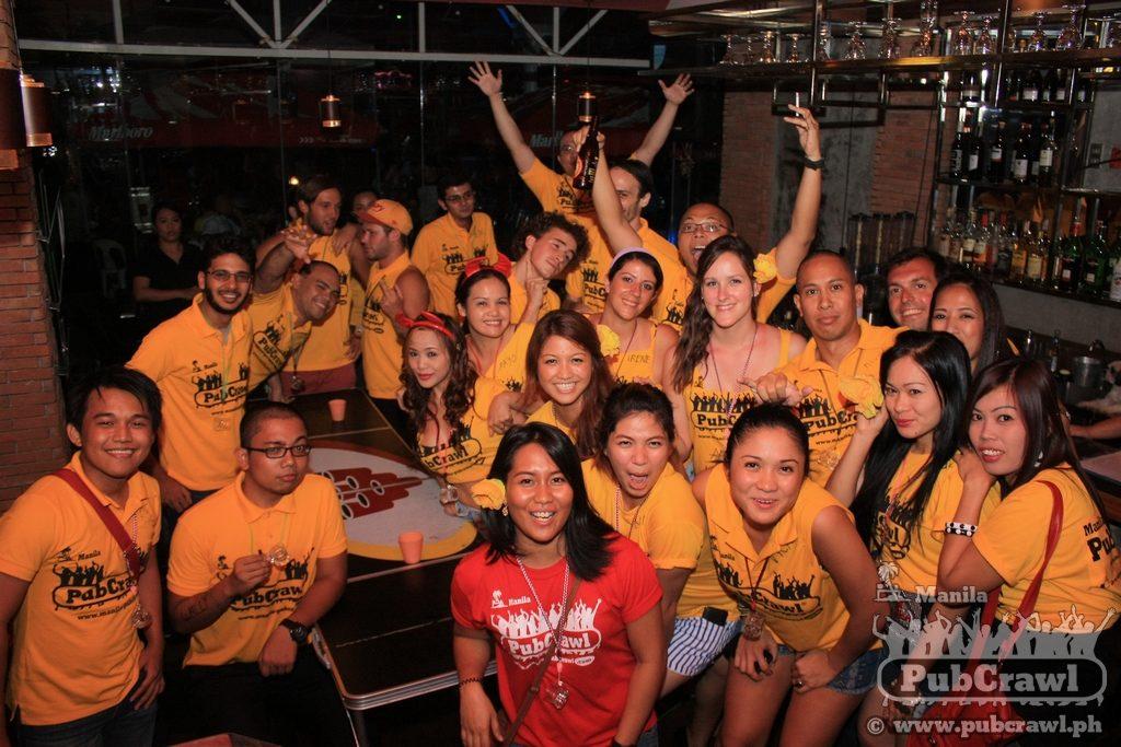 Manila PubCrawl beer pong